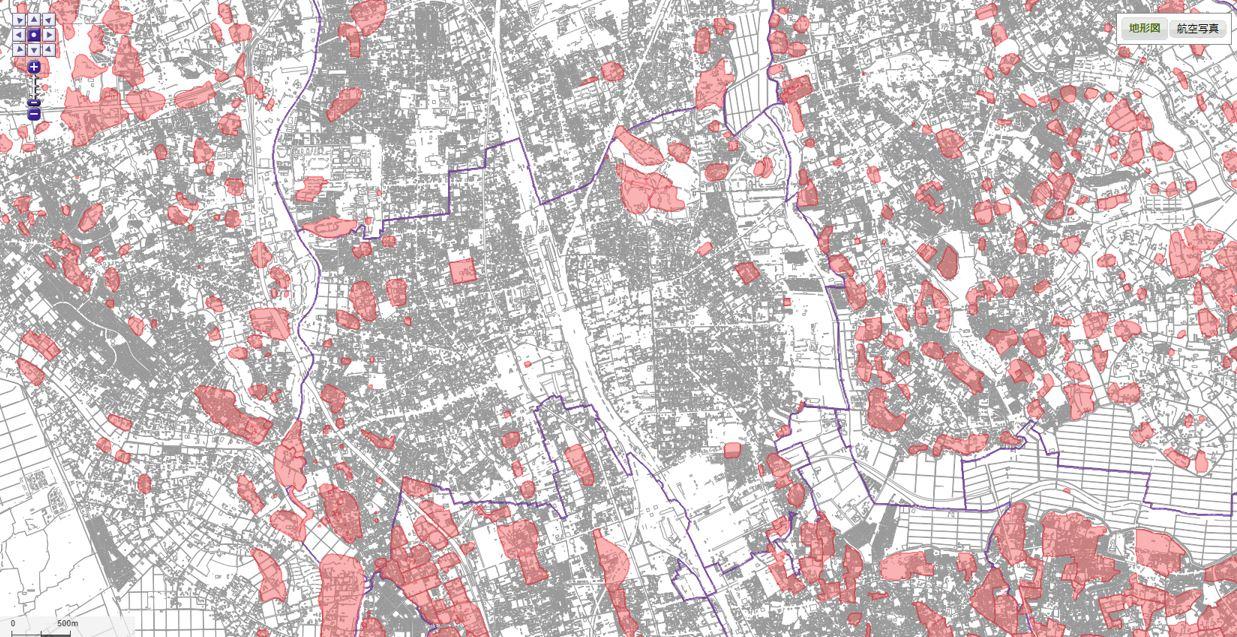 埋蔵文化財包蔵地地図
